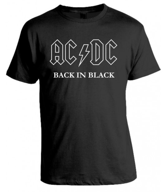 Camiseta AC - DC  Black in Black
