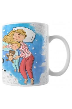 Caneca Felizes São os Dias e Noites com Mamãe