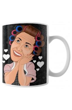 Caneca Gostaria de Entrar e Tomar uma Xícara de Café