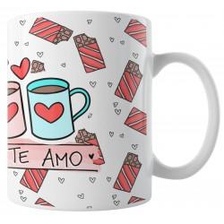 Caneca Te Amo Mais que Chocolate - Eu te Amo