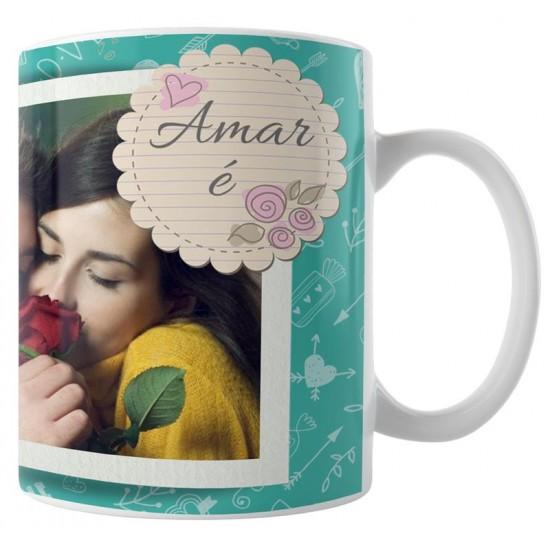Caneca Amar é - com Foto