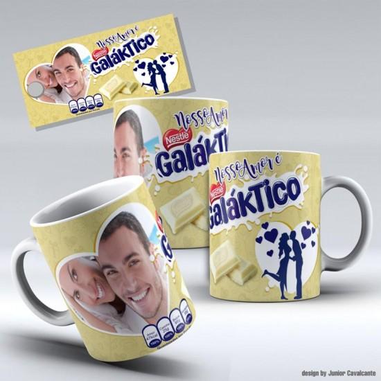 Caneca Nosso Amor é Galáktico - com Foto
