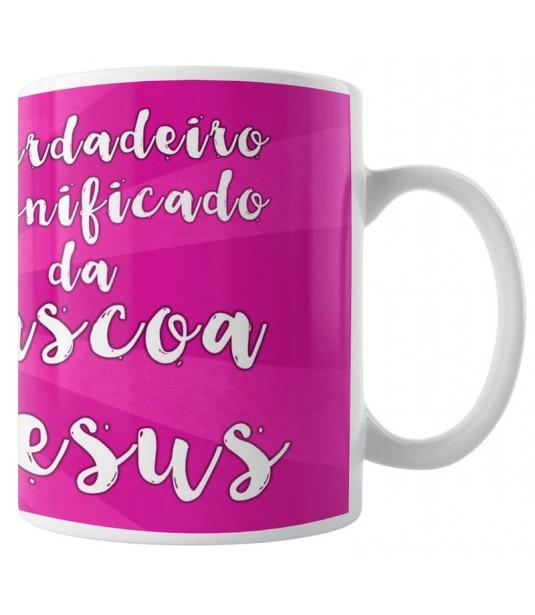 Caneca Jesus - Significado da Páscoa - Pink