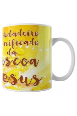 Caneca Jesus - Significado da Páscoa - Amarelo