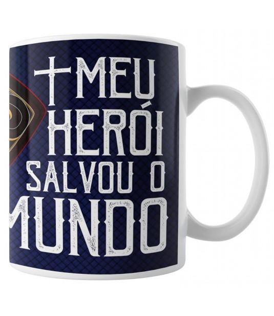 Caneca Meu Herói Salvou o Mundo