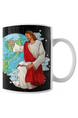 Caneca Porque Deus  Enviou Seu Filho ao Mundo para Salva-lo