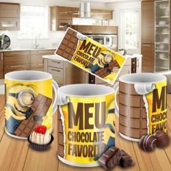 Caneca Minions - Meu Chocolate Favorito - Modelo 04