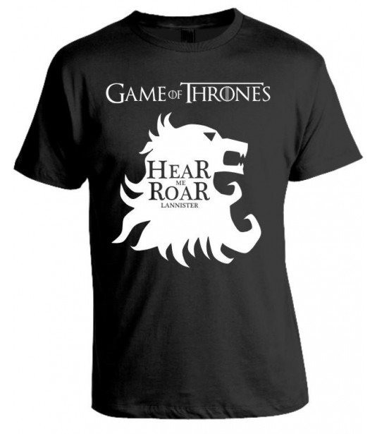 Camiseta Game Of Thrones - Hear Me Roar - Lannister - Modelo 02