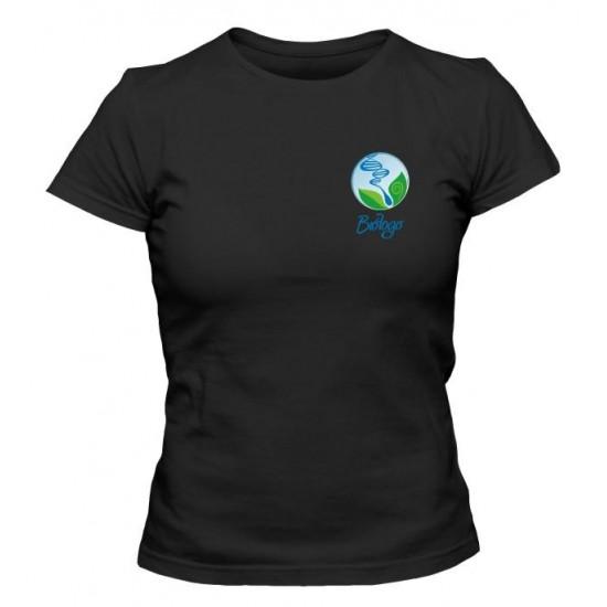 Camiseta Universitária Biólogo Bordada