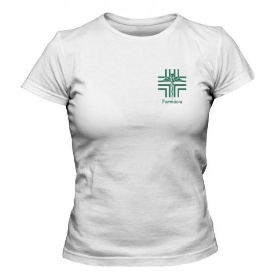 Camiseta Universitária Farmácia Bordada