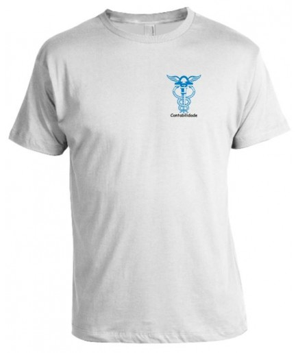 Camiseta Universitária Contabilidade Bordada