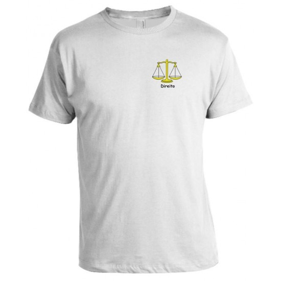 Camiseta Universitária Direito Bordada