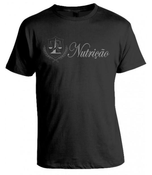 Camiseta Universitária Nutrição - Prata