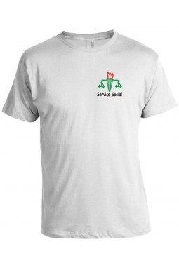 Camiseta Universitária Serviço Social Bordada